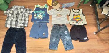 качественные детские вещи в Кыргызстан: Продаю пакет вещей на мальчика от 1 года. Вещи качественные, футболки
