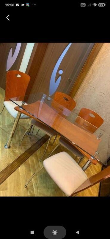 Cayxana ucun stol stul - Азербайджан: Stol+4 stul
