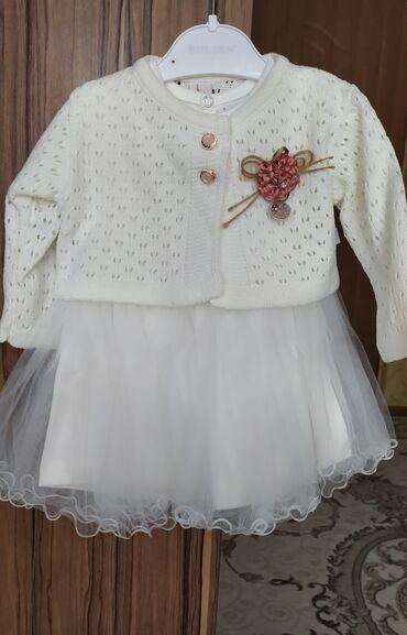 детские двойки в Кыргызстан: Платье-двойка, Турция р 80-12M. Качество сами тоже одевали такое