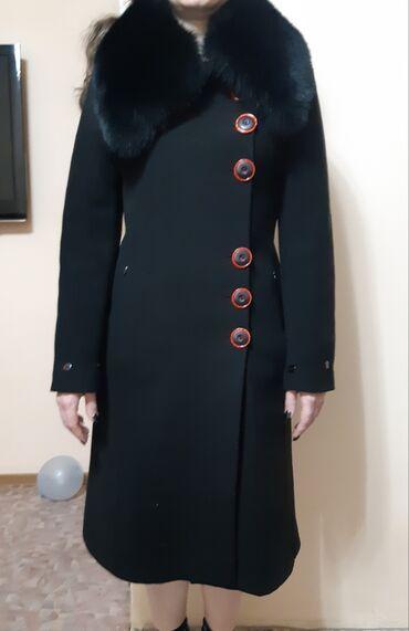 Пальто - Размер: M - Бишкек: Красивое зимнее пальто. Турция Воротник - чернобурка Размер - 44-46
