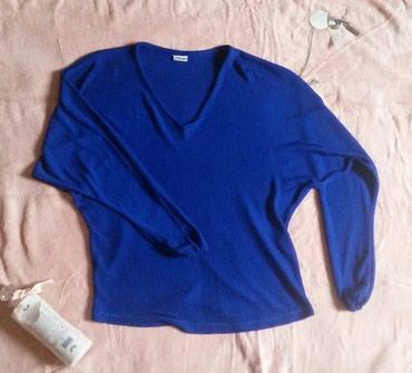 Royal blue oversize bluza, univerzalna velicina, jako fin i svilenkast - Ruma