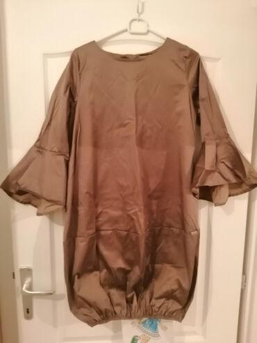 Haljine - Sremska Mitrovica: Prodajem zimsku haljinu braon boje sa sitnim pepito detaljima, dole