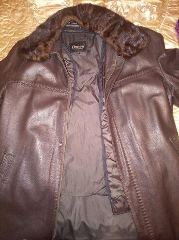 Чистая кожа Мужская зимне-осенняя кожаная куртка, есть утепленная