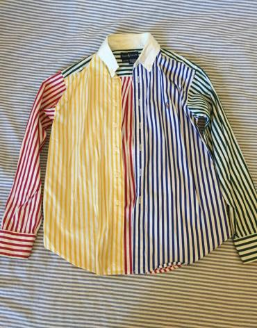 Multicolored stripes cotton shirt. New. Bought 60€ rare model age 8-10 σε Central & West Suburbs