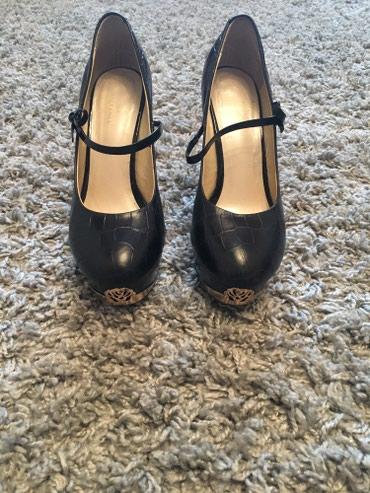 Туфли женские, 38 р, черные на высоком в Бишкек