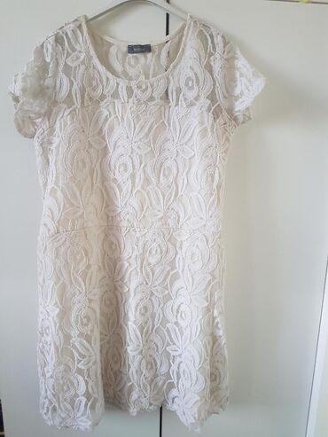 Šampanj kratka XL haljina