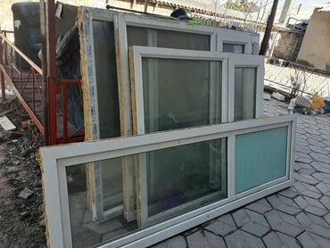 Окна от балкона. Размеры большие. С подоконниками. Состояния хорошее