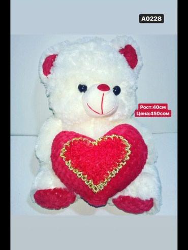 Мишка с сердечкой красный !!! Мишки и медведи дешево!!! Аю арзан баада в Бишкек
