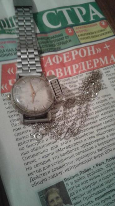 Часы механические и кольцо серебро и цепочка меняю на гири 32 кг