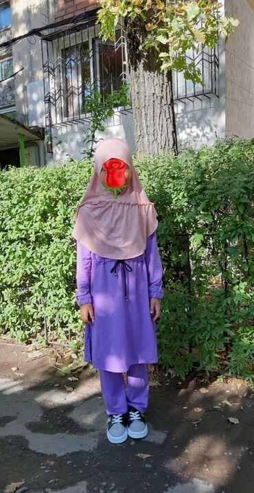 """Хиджаб! Двойка подростковая Размеры 32.34.36.38.40.42Ткань """" лакоста"""""""