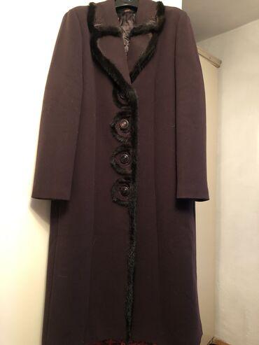 женское платье 56 в Кыргызстан: Продаю турецкое пальто с мехом,мех норка 56-58 размер