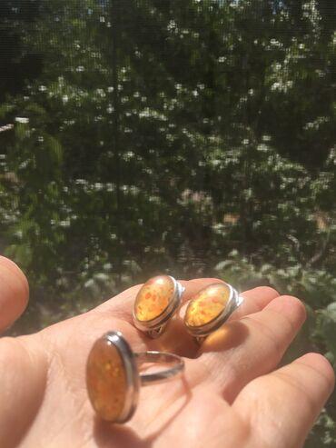 украшения под водолазку в Кыргызстан: Продаётся серебряный комплект