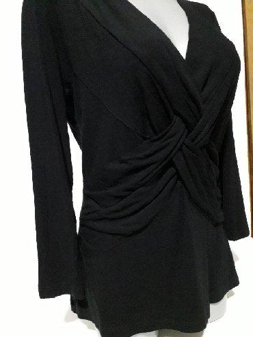 Elegantna-bluza-xl - Srbija: Elegantna crna bluza vel L može i XL Sastav:95%viskoza i 5%spandex