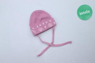 Дитяча шапка з вишивкою на зав'язках   Довжина: 13 см Ширина: 15 см Ма