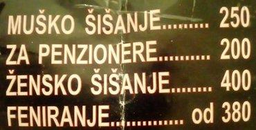 Dolazak frizera na adresu  radno vreme   08- 21h     non-stop! - Beograd