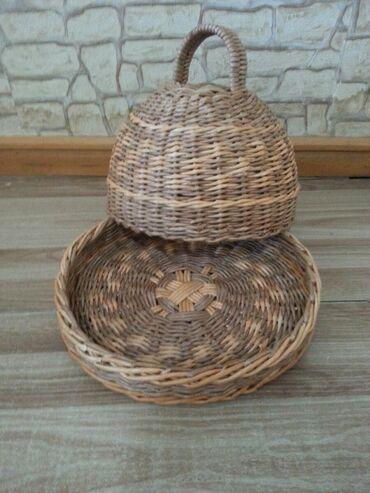 Хлебницы в Кыргызстан: Хлебница из бумажно-деревяный лозы Ручная работа. Диаметр 30см