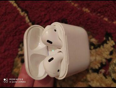 беспроводные наушники для ipad в Кыргызстан: Airpods 1 original 100%, любые проверки, все отлично работает комплект