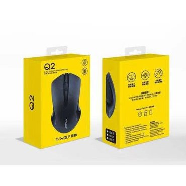 Компьютерные мыши в Кыргызстан: Беспроводная мышь Q2. Мышь. Wireless Mouse Компьютерная мышка. Мышка д