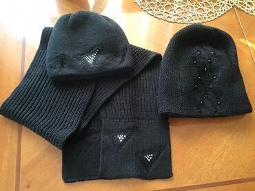 Набор шапка с шарфом и шапка набор одет пару раз как новый вторая