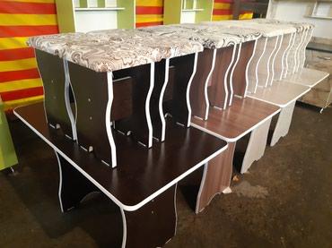 Продаю стол табуретки размер 1,10+65см и в Бишкек