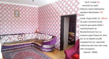 Bakı şəhərində Tecili 3 otaqli full remontlu ev satilir Sabuncu rayonu