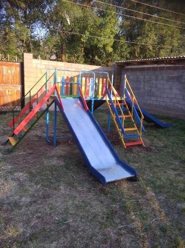 деревянные игрушки буратино в Кыргызстан: Четырех сторонние горки для ваших детей !!! любой комплектации!!!