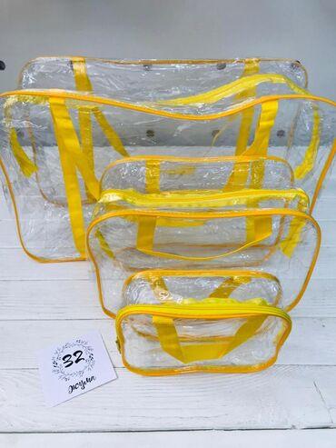 Прозрачная сумка-матрешка в Роддом 3в1, без запаха, прочные, удобные и