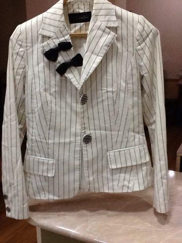 Белый женский пиджак в черную полоску в Bakı