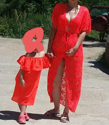 Пляжный комплект мама дочь 800 сом размеры детский 4-8 лет взрослый