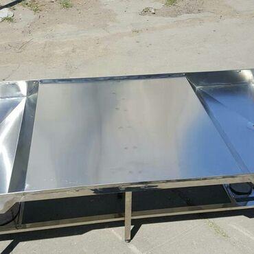 нержавейка столы в Кыргызстан: Столешница из нержавейки. Любые размеры. Покрытие для стола