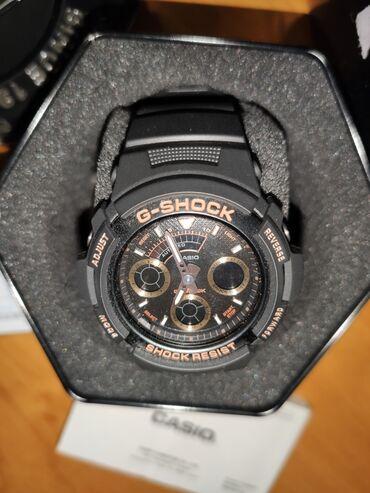 Золотистые Мужские Наручные часы Casio