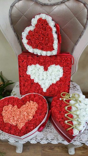 Коробки с цветами из  фоамирана   -это в Бишкек