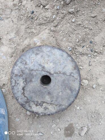 гиря 20 кг в Кыргызстан: Гиря на штанги 1 кг советский 200