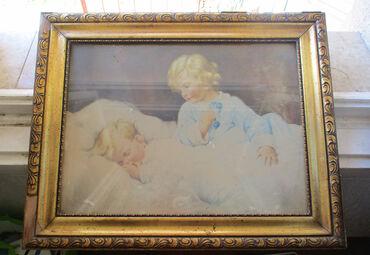 SUPER POVOLJNO - Stara slika  Stara slika u ramu, ustakljena, na pojed