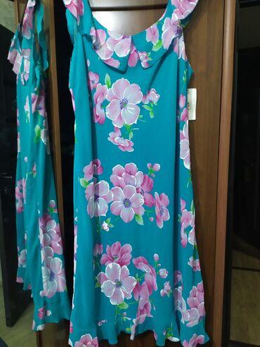Платье женское, новое, на 50 размер, шифон, Корея