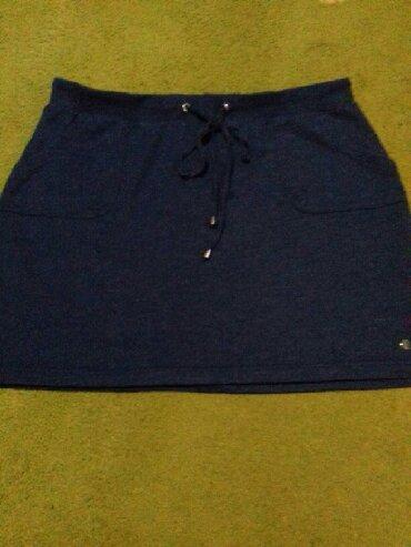 Suknja Esprit pamucna teget plave boje bukvalno nova