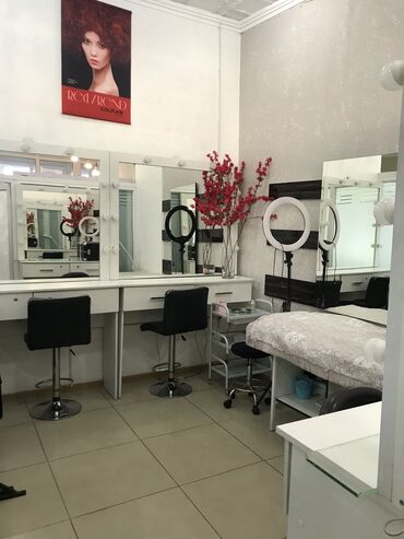 услуги визажа в Кыргызстан: Сдаётся кабинет, кресло парикмахера, кресло визажиста, маникюрные