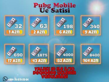 Pubg Mobile Uc Xidmeti WHATSAPPDAN Elaqe yarada bilersiz