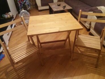 çarpayıya bitişik stol - Azərbaycan: Transformer stol+2 stul
