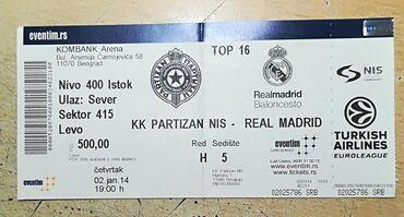 Partizan - Srbija: Karta sa meča Top 16 faze Partizan-Real Madrid sezona 14/15