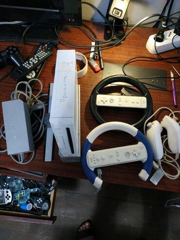 Nintendo Wii в Кыргызстан: Nintendo wii прошитая два джойстика