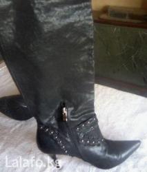 Красивые кожаные сапоги. италия. размер 38 в Бишкек