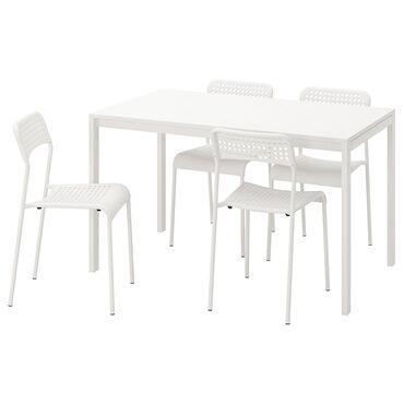 Комплекты столов и стульев - Кыргызстан: Стол и 4 стула за всё цена бесплатная доставка по городу Бишкек  Пишит