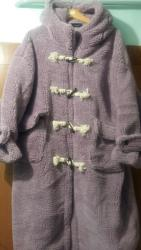 Личные вещи - Ак-Джол: Продаю новое меховое пальто размер 48-50, сиреневое, стиль бохо