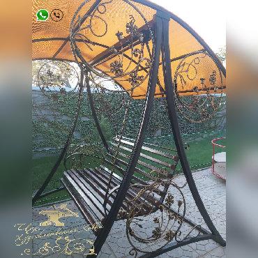 продаётся дача в Кыргызстан: КАЧЕЛИ ТАПЧАНЫ БЕСЕДКИ K-03 ♗✓ кованые качели, беседки и тапчаны✓
