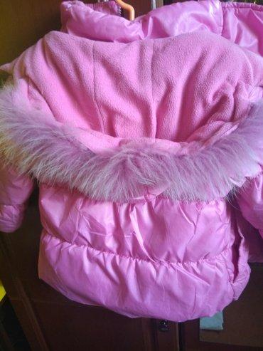 Розовая зимняя курточка на девочку 5-7 лет. в Бишкек