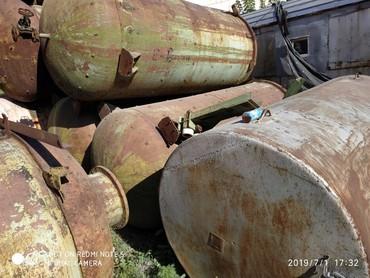 ферму металлическую 7м в Кыргызстан: Продаю металлические бочки, толщина 8 мм. 3.20 на 1.40