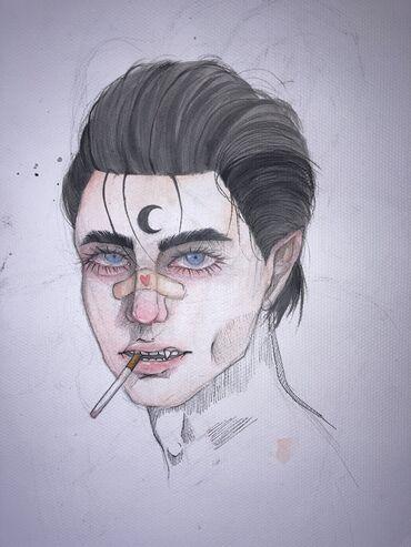 трусики карандаши в Кыргызстан: Стилизованные рисунки   【Стиль】 скетч, портрет, декоративный