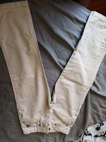 Pantalone cm - Srbija: Kao nove brenditane Sfera 122 cm pantalone bez boje za frajer male