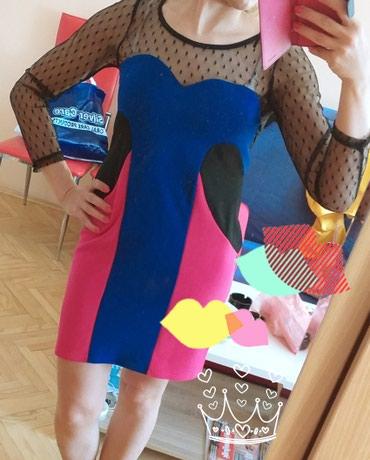 Preslatka haljinica, sa roze, crno, plavom kombinacijom boja i - Belgrade